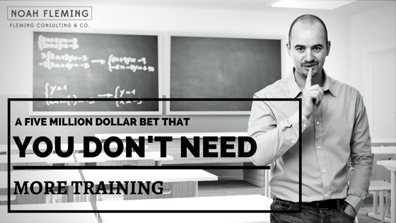 A $5M Bet That You Don't Need More Training